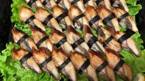 Ål, eel. Lyxsushi catering.