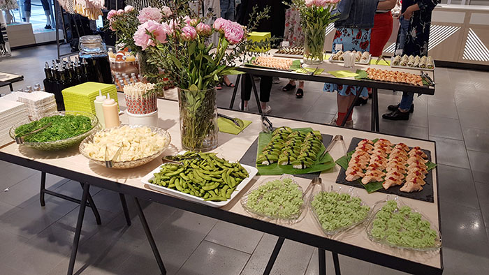 Sushibuffe på Lindex event Sveriges största babyshower