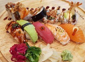 Kockens val av sushi hos Saya Sushi