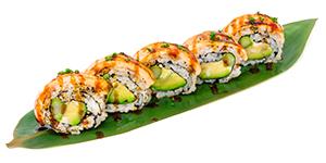 Halstrade laxrullar. Seared salmon rolls.