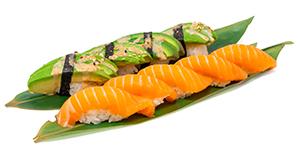 Lax och avokado. Salmon and avocado.