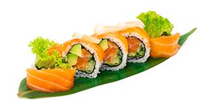 Lax och citronrullar. Salmon and leomn rolls.