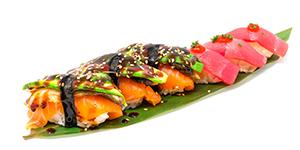 Sayas Sushi med ål. Sayas sushi with eel.