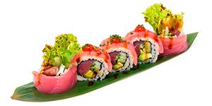 Spicy tuna rullar rolls
