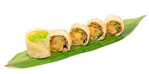 Tamagorullar med tempura och bacon