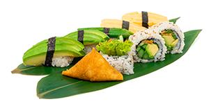 Vegetarisk vegetarian sushi